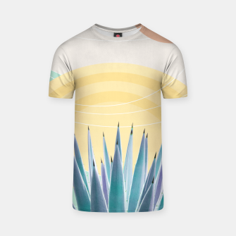 Miniatur Agave in the Desert Oasis #3 #tropical #wall #art  T-Shirt, Live Heroes