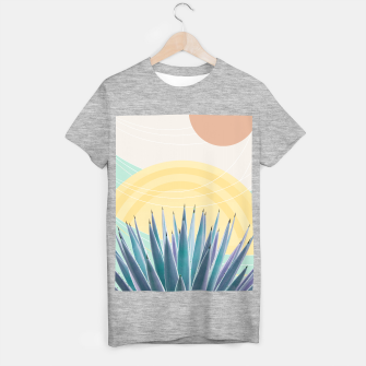 Miniatur Agave in the Desert Oasis #3 #tropical #wall #art  T-Shirt regulär, Live Heroes