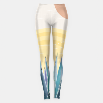 Miniatur Agave in the Desert Oasis #3 #tropical #wall #art  Leggings, Live Heroes