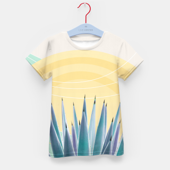 Miniatur Agave in the Desert Oasis #3 #tropical #wall #art  T-Shirt für kinder, Live Heroes