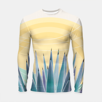 Miniatur Agave in the Desert Oasis #3 #tropical #wall #art  Longsleeve rashguard, Live Heroes