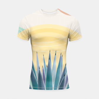 Miniatur Agave in the Desert Oasis #3 #tropical #wall #art  Shortsleeve rashguard, Live Heroes