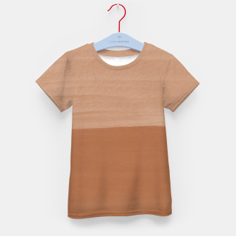 Thumbnail image of Brown Sugar Abstract Minimalism #1 #minimal #ink #decor #art  T-Shirt für kinder, Live Heroes
