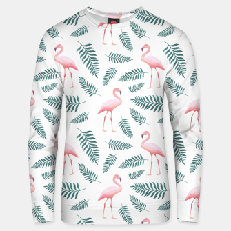 Thumbnail image of Flamingos and Palms Unisex sweater, Live Heroes