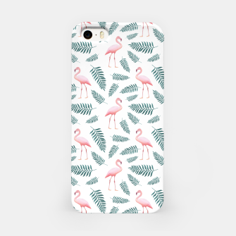 Thumbnail image of Flamingos and Palms iPhone Case, Live Heroes