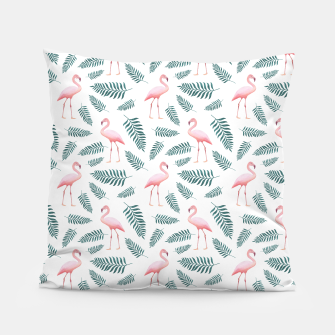 Thumbnail image of Flamingos and Palms Pillow, Live Heroes