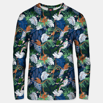 Thumbnail image of Monkeys in the dark jungle Sudadera unisex, Live Heroes