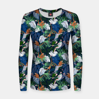 Thumbnail image of Monkeys in the dark jungle Sudadera para mujeres, Live Heroes