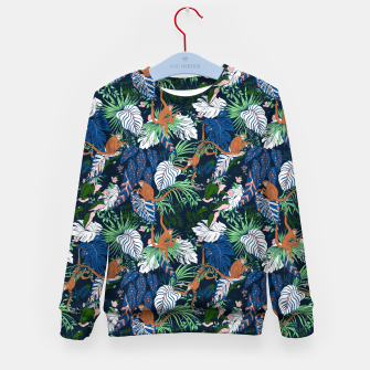 Thumbnail image of Monkeys in the dark jungle Sudadera para niños, Live Heroes