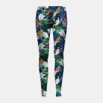 Thumbnail image of Monkeys in the dark jungle Leggings para niña, Live Heroes