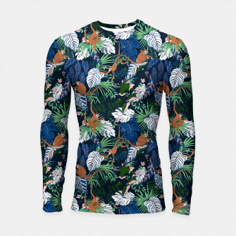 Thumbnail image of Monkeys in the dark jungle Longsleeve rashguard, Live Heroes