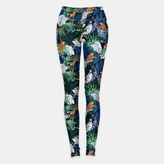 Thumbnail image of Monkeys in the dark jungle Leggings, Live Heroes