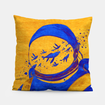 Thumbnail image of Berber Spaceman Underwater  Pillow, Live Heroes