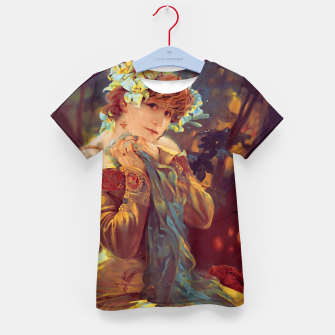Thumbnail image of Sarah Bernhardt in La Princesse Lointaine by Alphonse Mucha Kid's t-shirt, Live Heroes