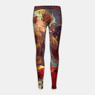 Thumbnail image of Sarah Bernhardt in La Princesse Lointaine by Alphonse Mucha Girl's leggings, Live Heroes