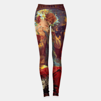 Thumbnail image of Sarah Bernhardt in La Princesse Lointaine by Alphonse Mucha Leggings, Live Heroes