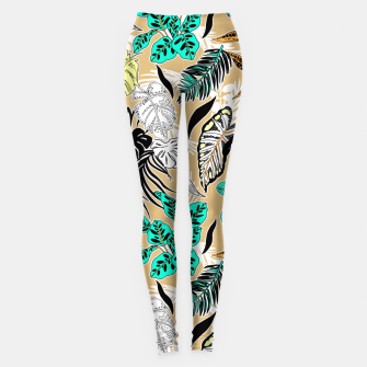 Thumbnail image of Tropic nature abstract Leggings, Live Heroes