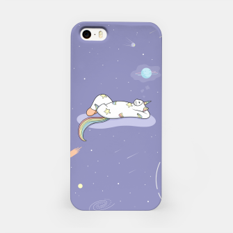 Thumbnail image of Weird Unicorn Cat dreaming of a vacation iPhone Case, Live Heroes