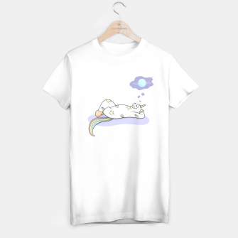 Thumbnail image of Weird Unicorn Cat dreaming of a vacation T-shirt regular, Live Heroes