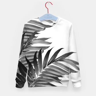 Thumbnail image of Palm Leaves Tropical Black & White Vibes #1 #tropical #decor #art Kindersweatshirt, Live Heroes