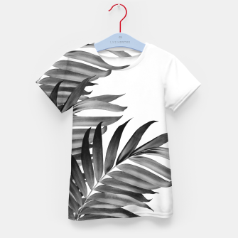 Thumbnail image of Palm Leaves Tropical Black & White Vibes #1 #tropical #decor #art T-Shirt für kinder, Live Heroes