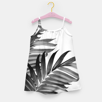 Thumbnail image of Palm Leaves Tropical Black & White Vibes #1 #tropical #decor #art Mädchenkleid, Live Heroes