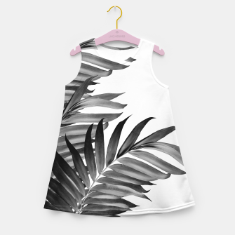 Thumbnail image of Palm Leaves Tropical Black & White Vibes #1 #tropical #decor #art Mädchen-Sommerkleid, Live Heroes
