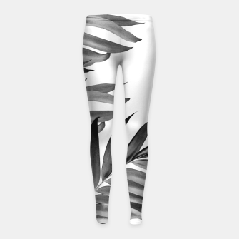 Thumbnail image of Palm Leaves Tropical Black & White Vibes #1 #tropical #decor #art Kinder-Leggins, Live Heroes
