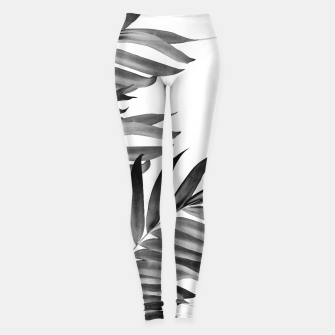 Thumbnail image of Palm Leaves Tropical Black & White Vibes #1 #tropical #decor #art Leggings, Live Heroes