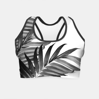 Thumbnail image of Palm Leaves Tropical Black & White Vibes #1 #tropical #decor #art Crop Top, Live Heroes