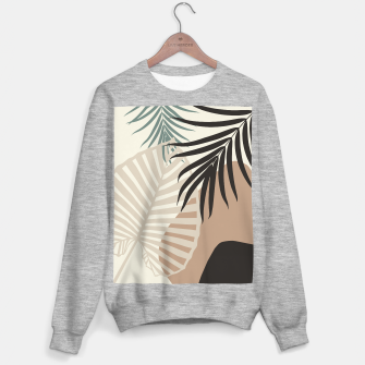 Thumbnail image of Minimal Tropical Palm Leaf Finesse #1 #tropical #decor #art  Sweatshirt regulär, Live Heroes