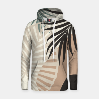 Thumbnail image of Minimal Tropical Palm Leaf Finesse #1 #tropical #decor #art  Kapuzenpullover, Live Heroes