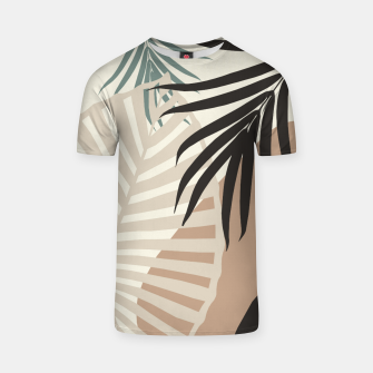 Thumbnail image of Minimal Tropical Palm Leaf Finesse #1 #tropical #decor #art  T-Shirt, Live Heroes