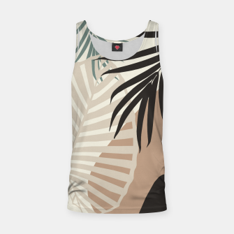 Thumbnail image of Minimal Tropical Palm Leaf Finesse #1 #tropical #decor #art  Muskelshirt , Live Heroes