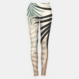 Thumbnail image of Minimal Tropical Palm Leaf Finesse #1 #tropical #decor #art  Leggings, Live Heroes