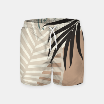 Thumbnail image of Minimal Tropical Palm Leaf Finesse #1 #tropical #decor #art  Badeshorts, Live Heroes