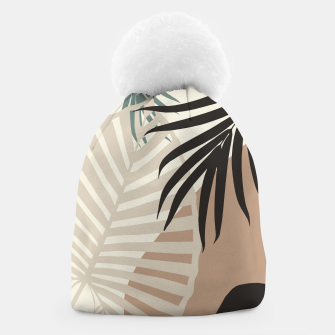 Thumbnail image of Minimal Tropical Palm Leaf Finesse #1 #tropical #decor #art  Mütze, Live Heroes