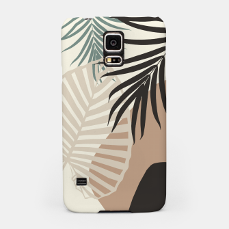 Thumbnail image of Minimal Tropical Palm Leaf Finesse #1 #tropical #decor #art  Handyhülle für Samsung, Live Heroes