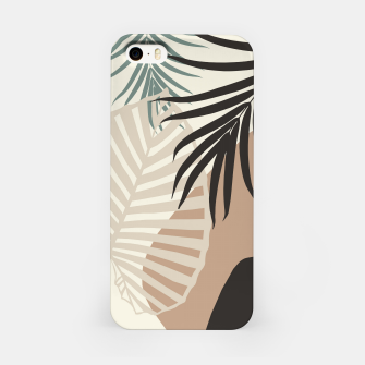 Thumbnail image of Minimal Tropical Palm Leaf Finesse #1 #tropical #decor #art  iPhone-Hülle, Live Heroes