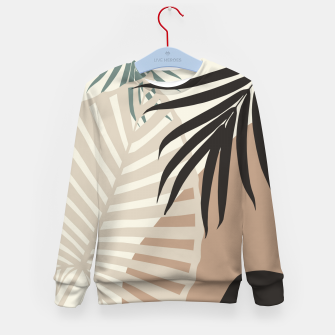 Thumbnail image of Minimal Tropical Palm Leaf Finesse #1 #tropical #decor #art  Kindersweatshirt, Live Heroes
