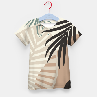 Thumbnail image of Minimal Tropical Palm Leaf Finesse #1 #tropical #decor #art  T-Shirt für kinder, Live Heroes