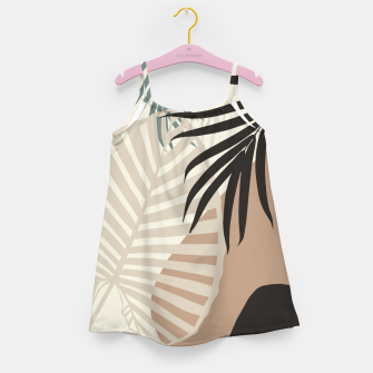 Thumbnail image of Minimal Tropical Palm Leaf Finesse #1 #tropical #decor #art  Mädchenkleid, Live Heroes