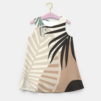 Thumbnail image of Minimal Tropical Palm Leaf Finesse #1 #tropical #decor #art  Mädchen-Sommerkleid, Live Heroes