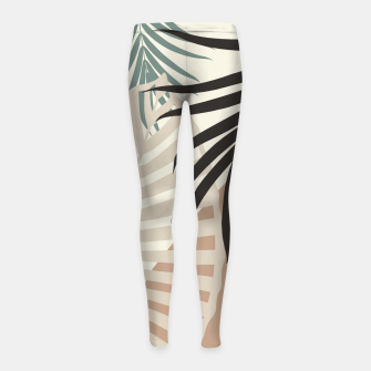 Thumbnail image of Minimal Tropical Palm Leaf Finesse #1 #tropical #decor #art  Kinder-Leggins, Live Heroes