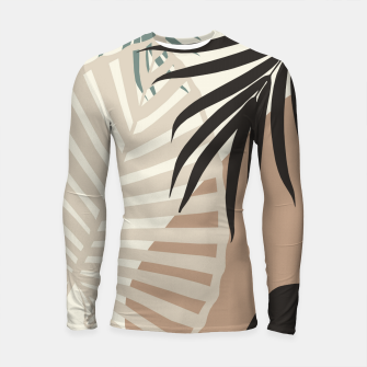 Thumbnail image of Minimal Tropical Palm Leaf Finesse #1 #tropical #decor #art  Longsleeve rashguard, Live Heroes