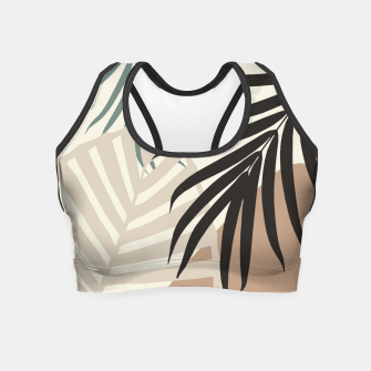 Thumbnail image of Minimal Tropical Palm Leaf Finesse #1 #tropical #decor #art  Crop Top, Live Heroes