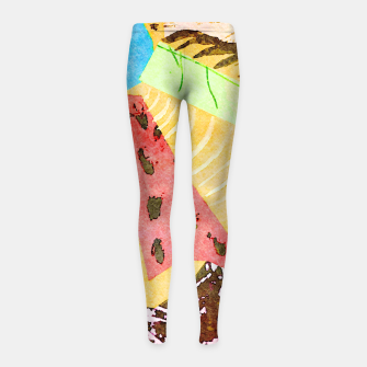 Thumbnail image of Grasshopper Girl's leggings, Live Heroes