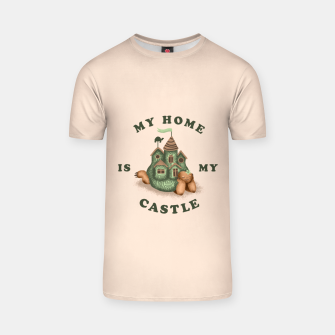 Thumbnail image of My Home Is My Castle T-shirt, Live Heroes