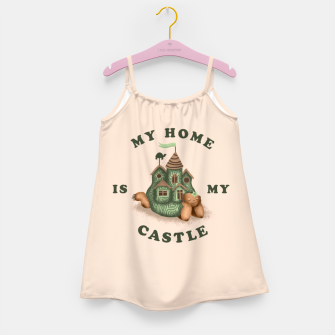 My Home Is My Castle Girl's dress miniature