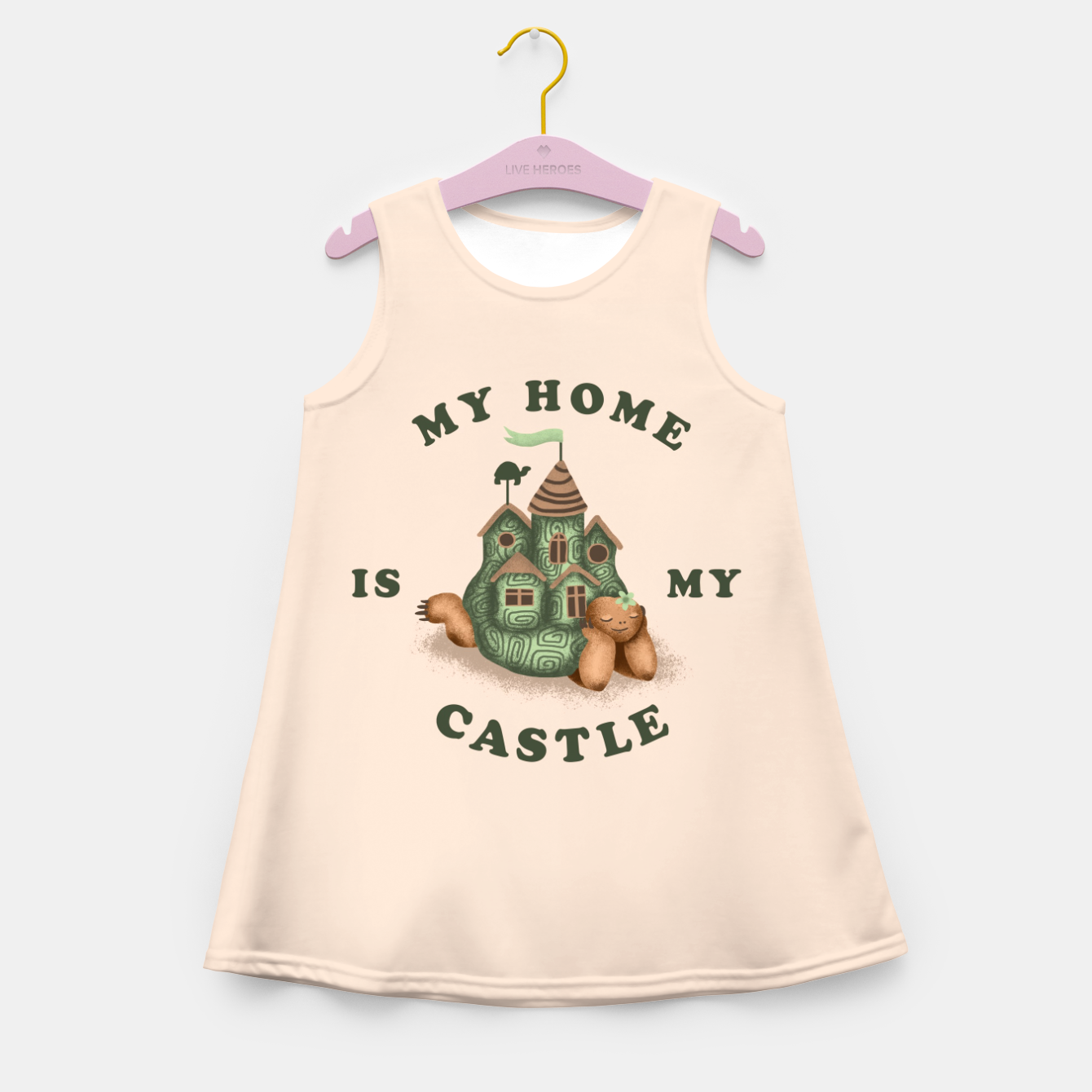 Image de My Home Is My Castle Girl's summer dress - Live Heroes